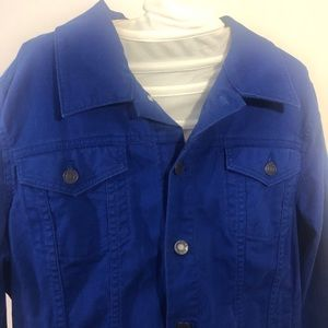 2/$20 🛍️ Talbots Jean Jacket  Large Blue